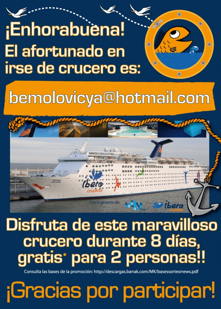 Y el ganador del crucero en Facilisimo es...