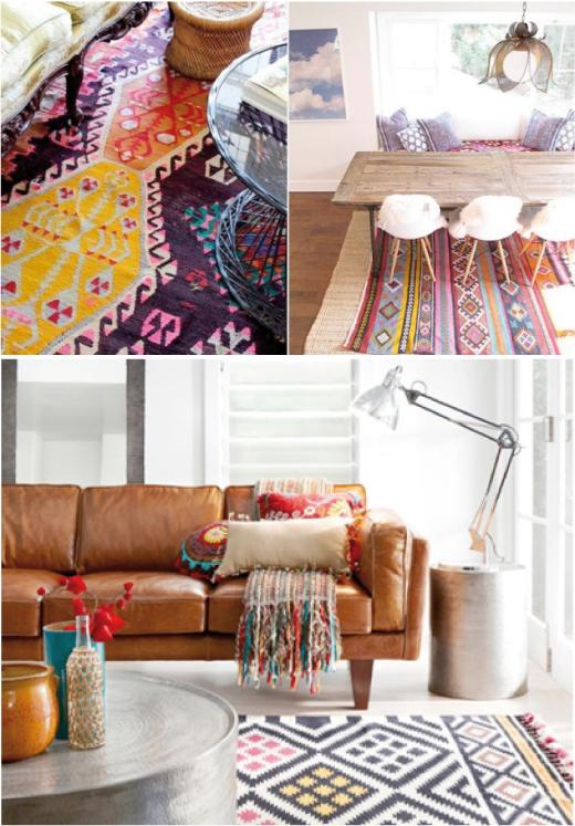 textil etnico y mobiliario vintage