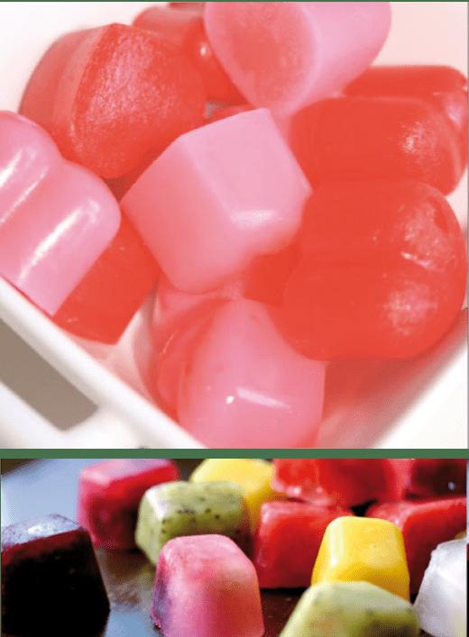 hielos de frutas