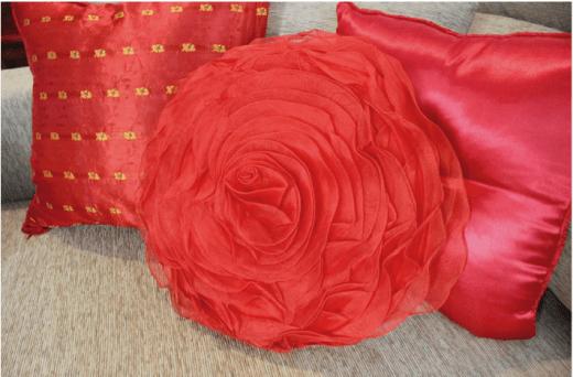 Cojines forma de rosa